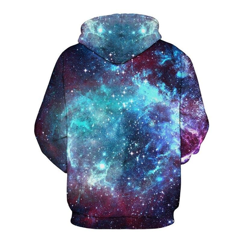 BombFun Kişi və Qadın Hoodies Kosmik Təsadüfi Galaxy 3d Çap - Kişi geyimi - Fotoqrafiya 2