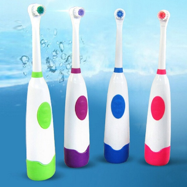 Вращающийся Антипробуксовочная Водонепроницаемый Электрическая Зубная Щетка с 2 Насадки-Щетки Зубная Щетка Oral Hygiene Dental Care 4 Цвет