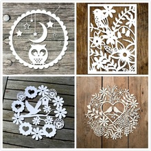 YaMinSanNiO Floral Circle Dies Owl Moon Lovebird Metal Cutting New 2019 for Craft Scrapbooking Album Embossing Stencil