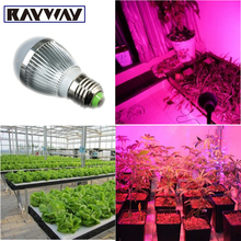 Full Spectrum E27 Red & Blue Led Grow Light Bulb AC85-265V Led Growing Lamp for Hydroponics Flowers Plants Vegetables Growing