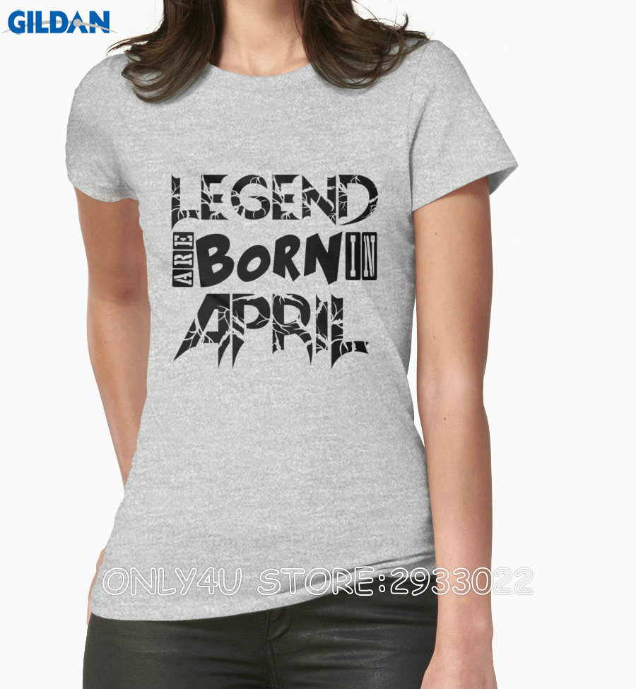 Design t shirts online - Gildan Only4u Design Your Own Shirt Online Women S Legends Are Born In April T Shirt