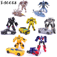7Pcs/set Mini Cute Transformation 4 Model Kids Robot Cars Toys Cool Action Toy Figures Anime Brinquedos Party Gift original box