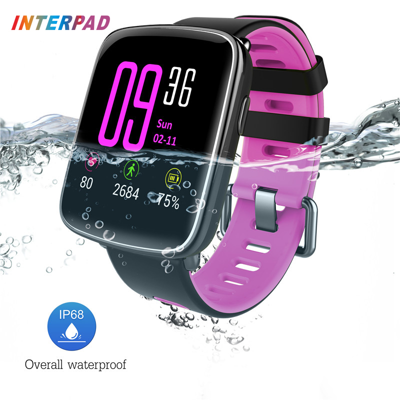 Interpad GV68 Bluetooth 4 0 Sport Smart Watch IP68 Swim Waterproof With Heart Rate Monitor Smart