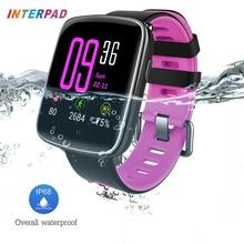 Interpad GV68 Bluetooth 4.0 Sport Montre Smart Watch IP68 De Bain Étanche Avec Moniteur de Fréquence Cardiaque Intelligent Horloge Podomètre Smartwatch