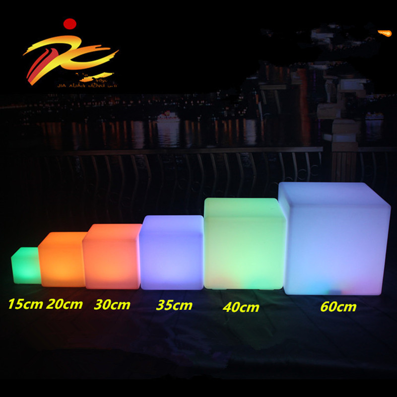 40cm Led Cube Chair For Outdoor Party Led Glow Cube Stools