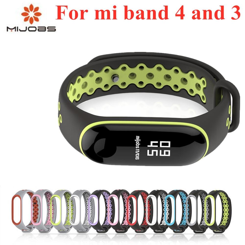 Esporte mi banda 3 4 cinta de pulso para xiao mi banda 3 esporte pulseira de silicone para mi banda 4 3 band3 relógio inteligente pulseira