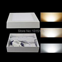 5 sztuk + darmowa wysyłka 24 W kwadratowy montowane na powierzchni sufitu światła LED 300mm Aluminium kwadratowy sufit Panel biały AC85 265V|panel mount usb type b|light panel led book lightlight panel led -