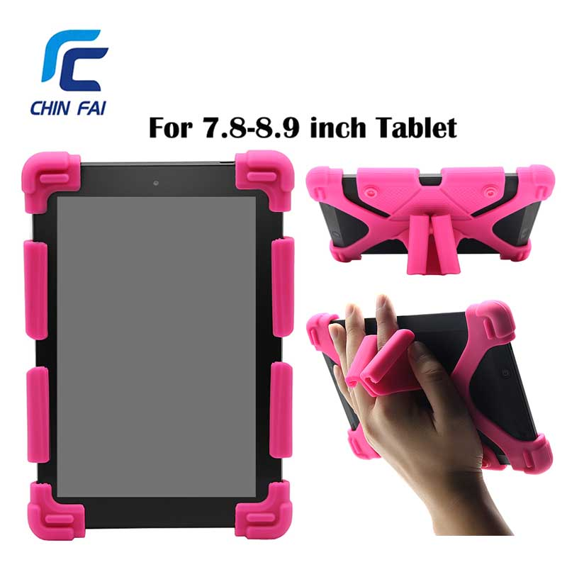 Top Quality Universal Cover Kids Shockproof Silicon Protective Handles Case for 7.9/8/9 inch for Ipad,Huawei,Samsung Asus Tablet universal 8 inch tablet case for huawei lenovo samsung asus acer ipad mini marble pu leather flip tablet protective shell cover