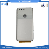 Original For Moto Google Pixel Back Cover Housing Case Battery Door Silver Replace Parts AAA Quality