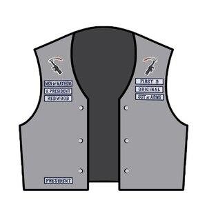 Image 5 - Synowie łatki Anarchy hafty żelazko na szyć na motocyklu spersonalizowana nazwa rocker OPIE niestandardowy patch tag biker ubrania aplikacja