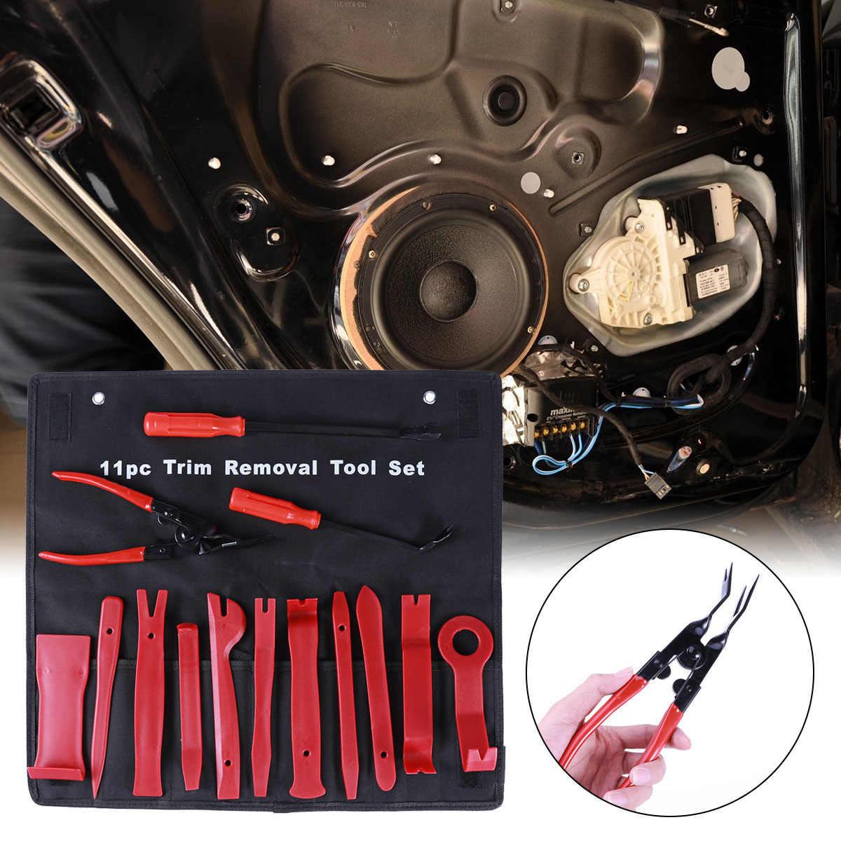 14 шт. элементы отделки автомобиля набор инструментов для удаления дверной панели CD динамик литья тире радио набор инструментов для удаления авто инструменты для ремонта (с тканевой сумкой)
