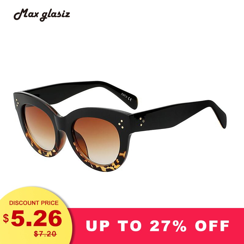 L16 Female Audrey Retro Glasses Rivets Vintage Women Sunglasses Cateye Designer Eyeglasses Girl A Feminino Lentes De Sol Women's Sunglasses Women's Glasses