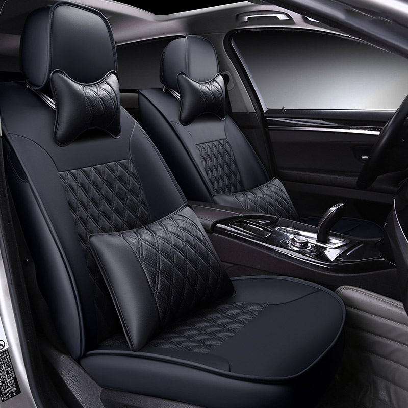 Custom made/ Leather car seat cover For Toyota RAV4 PRADO Highlander COROLLA Camry Prius Reiz CROWN yaris accessories styling