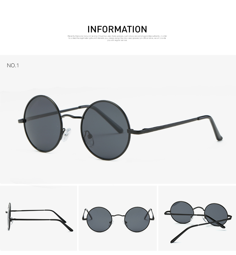 AEVOGUE Polarized Sunglasses For Men/Women نظارات شمسية للرجال وللسيدات بعدسات دائرية بلورايزد 5