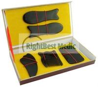 5 PCS Black Buffalo Horn Gua Sha Board Scrape Therapy Chinese Traditional Medicine Massager Gift Box Massage Tool Free Shipping