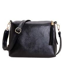 Hot 2016 Leather Women Tassel Clutch Bag Handbags High Quality Shoulder Bag Women Messenger Bag Female mini Small Bag Sac A Main