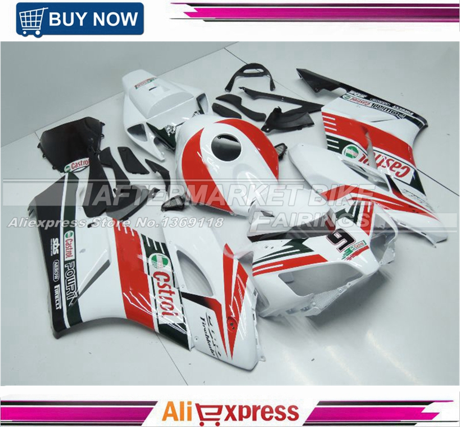 CASTROL Full Fairings Fit Honda CBR1000RR 2004 2005 04 05 ABS Injection Motorcycle Fairing Kit Bodywork Cowling Fairings fairings fit honda cbr1000rr 08 09 10 11 2008 2009 2010 2011 injection abs motorcycle fairing kit bodywork cowling eurobet