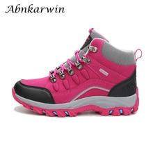 Profissional caminhadas botas mulheres sapatos de trekking inverno escalada ao ar livre treking montanha couro trilha tênis botas mujer