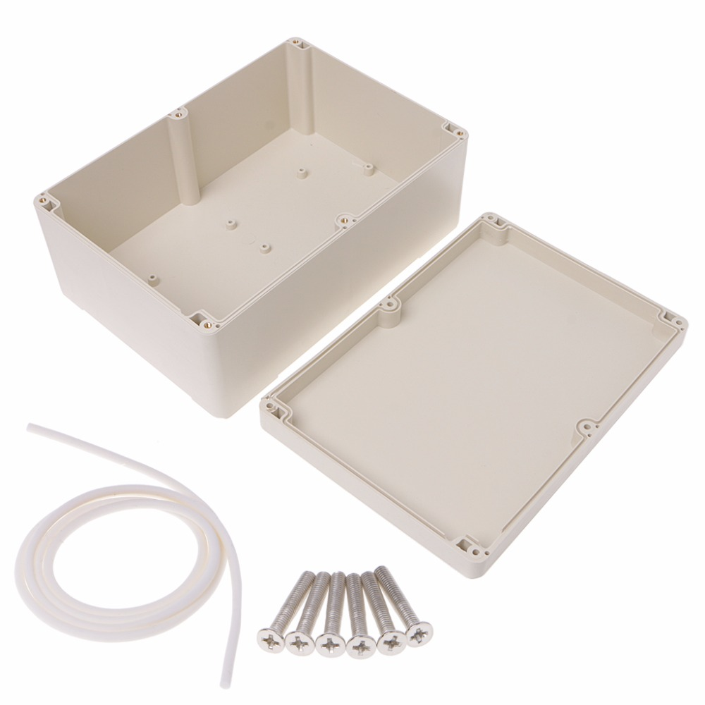 Waterproof Plastic Enclosure Case Junction Box 265mm x 185 mm x 115 mm Junction Box white waterproof plastic enclosure box electric power junction case 158mmx90mmx46mm with 6pcs screws