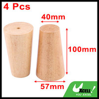 Canteen Furniture Sofa Legs Feet Replacement Wood Color 4 Inch Height 4 Pcs