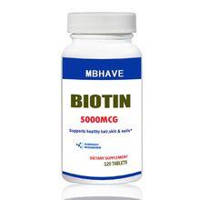 Биотин 5000 мкг 120 Таблетки Макс Прочность Волос, Кожи и Ногтей Поддержка(China (Mainland))