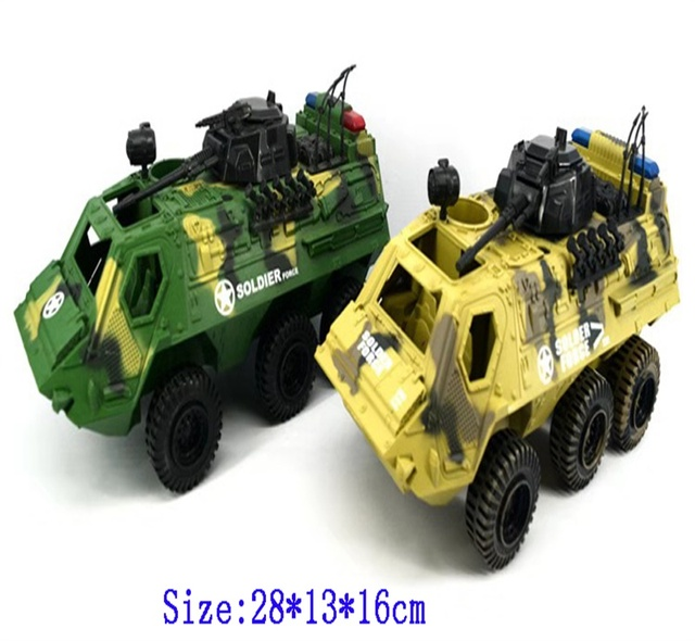 Military Armored Cars Children's CAMO Tanks Soldiers Little Man Toys  Gliding Tank Model Diecasts Toy Vehicles