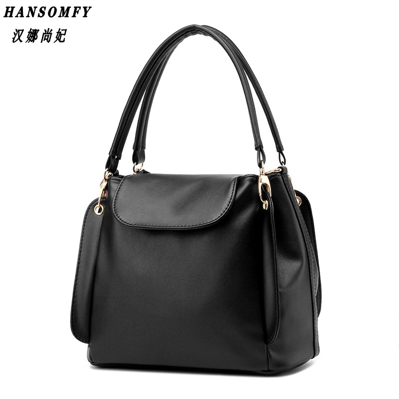 100% Genuine leather Women handbags 2018 New package female simple software package portable shoulder bag women Messenger
