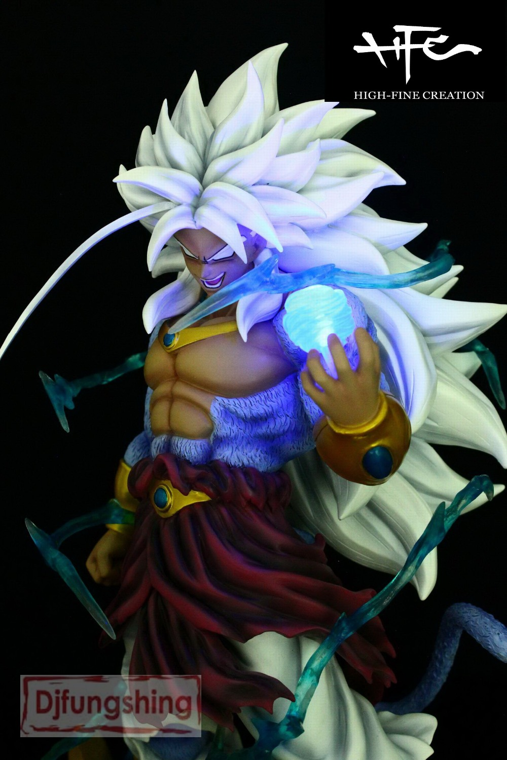 MODEL FANS HFC DRAGON BALL Z 45cm Super Saiyan 5 Brolly Broli GK resin contain led light figure toy for Collection