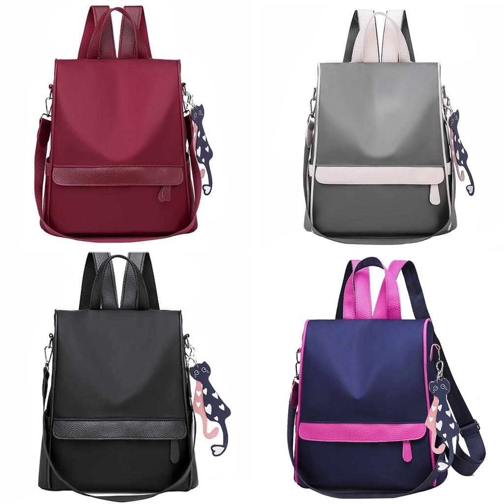 New Backpack Schoolbag Oxford Teenager Girls Women Multifuction Mochila