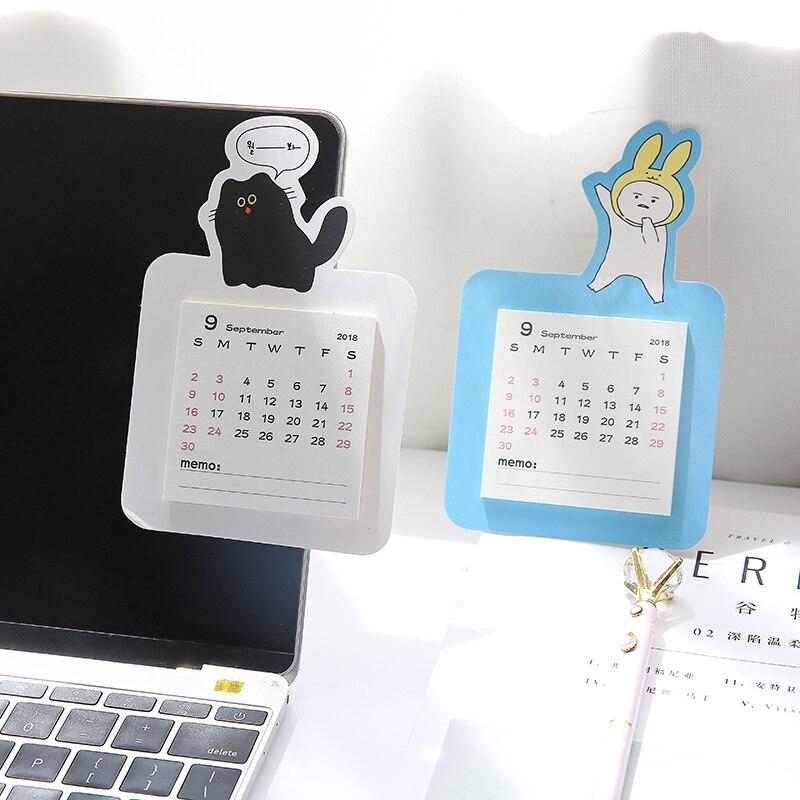 Office & School Supplies Independent 2019 New Kawaii Cartoon Calendar Pig Fruit Cherry Blossom Notepad Creative Desk Vertical Paper Timetable Planner Notebook