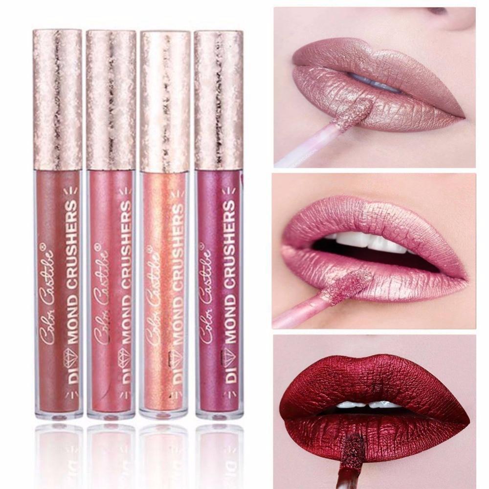Top Quality Matte Lipstick 16 Colors Waterproof Lasting Matter Shimmer Liquid Lipstick Lip Gloss Cosmetic