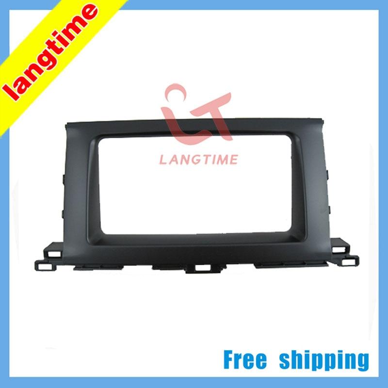 Free shipping-Car refitting DVD frame,DVD panel,Dash Kit,Fascia,Radio Frame,Audio frame for 2014 Toyota Highlander,2DIN