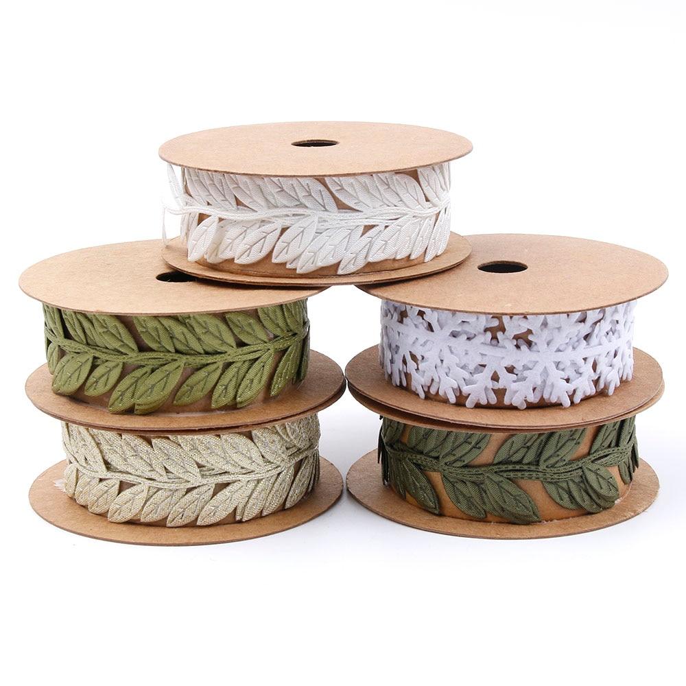 DIY Sewing Craft Felt Lace Trim Embellishment Snowflake Ribbon Sewing Felt Garlands Non-woven Fabric Appliques
