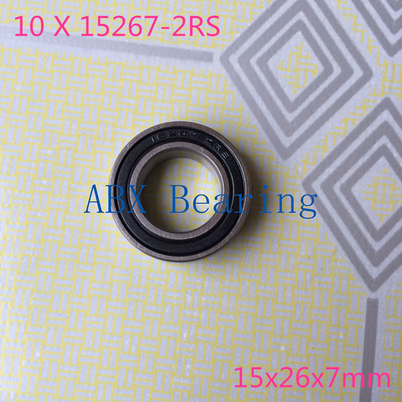 10pcs/lot 15267-2RS 15267RS  MR15267 15267 2RS GCR15 ball bearing 15x26x7mm bike wheels bottom bracket repair bearing 15267 2rs 15 26 7mm 15267rs si3n4 hybrid ceramic wheel hub bearing