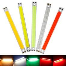 hot deal buy 120mm*10mm led light strip surper highlight 10w cob led strips lamps diy car work 12v bar light warm white/white/green/red hq
