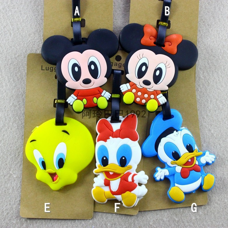 2018 Luggage Cover New Travel Accessories Micky Minie Donald Daisy Cartoon Suitcase Id Address Holder Baggage Boarding Tag