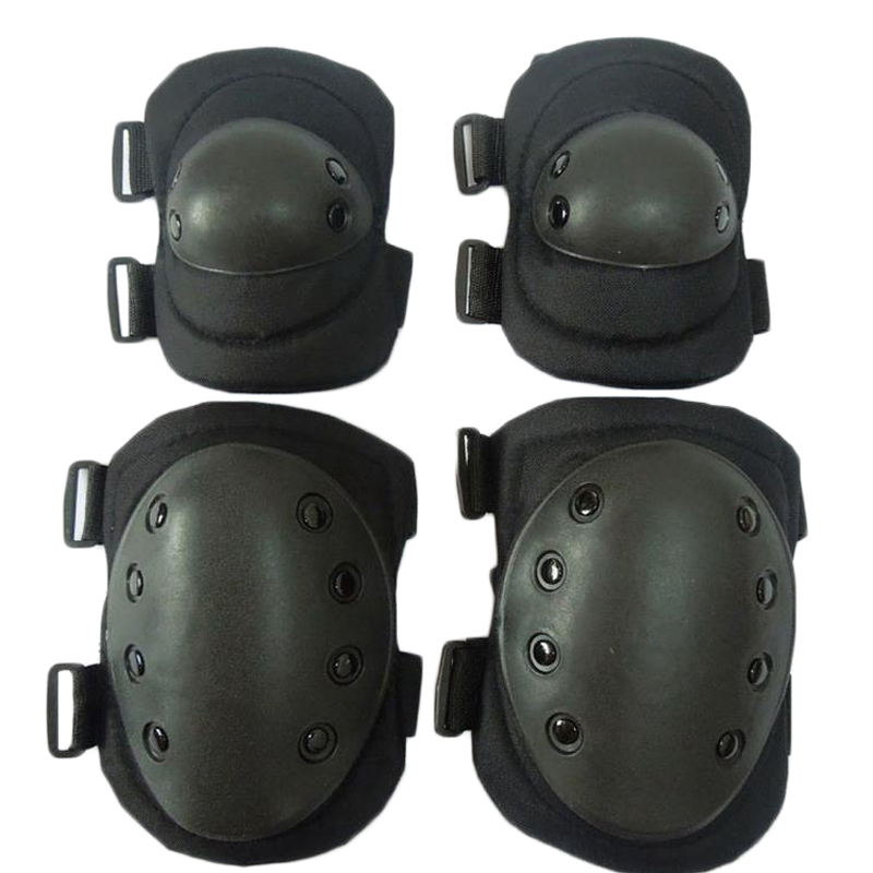 Tactical Knee And Elbow Protector Pads Set military CS War Game Airsoft Paintball Hunting Safety