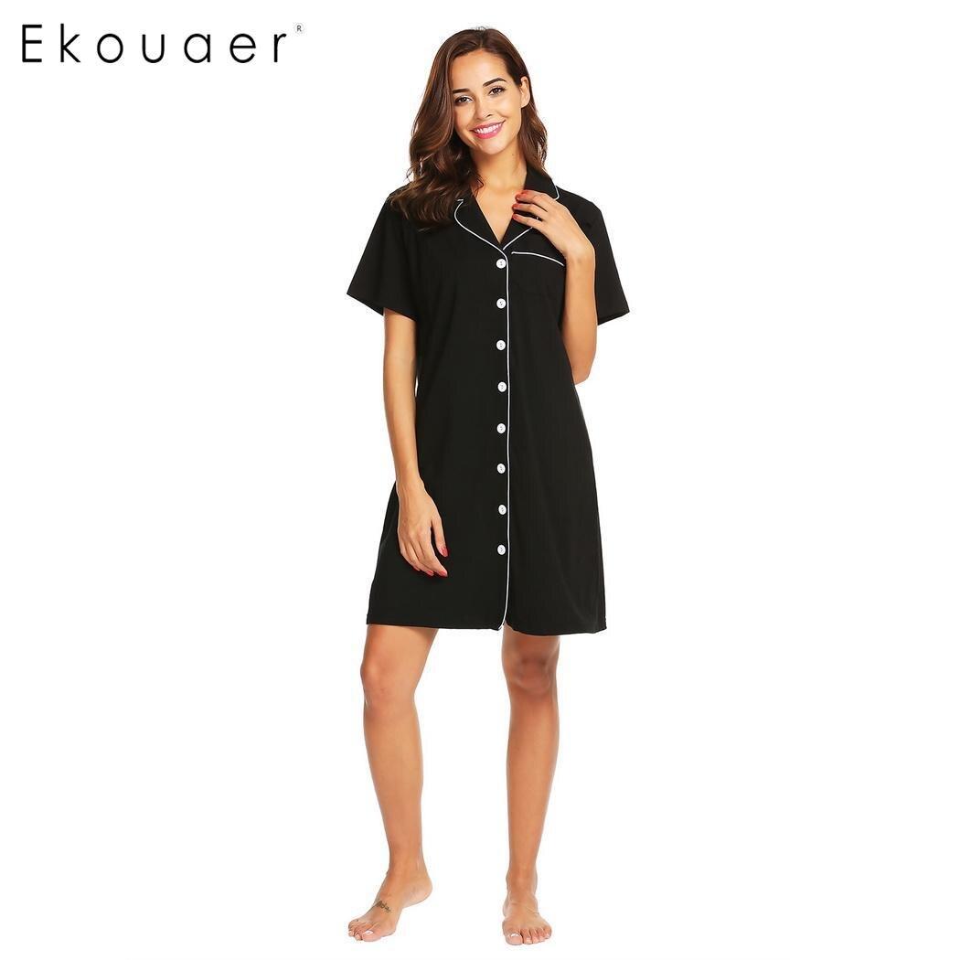 d79d80c76ca18 Detail Feedback Questions about Ekouaer Women Chemise Nightdress  Sleepshirts Nursing Maternity Breastfeeding Button Front Sleep Dress  Homewear Nightgown on ...