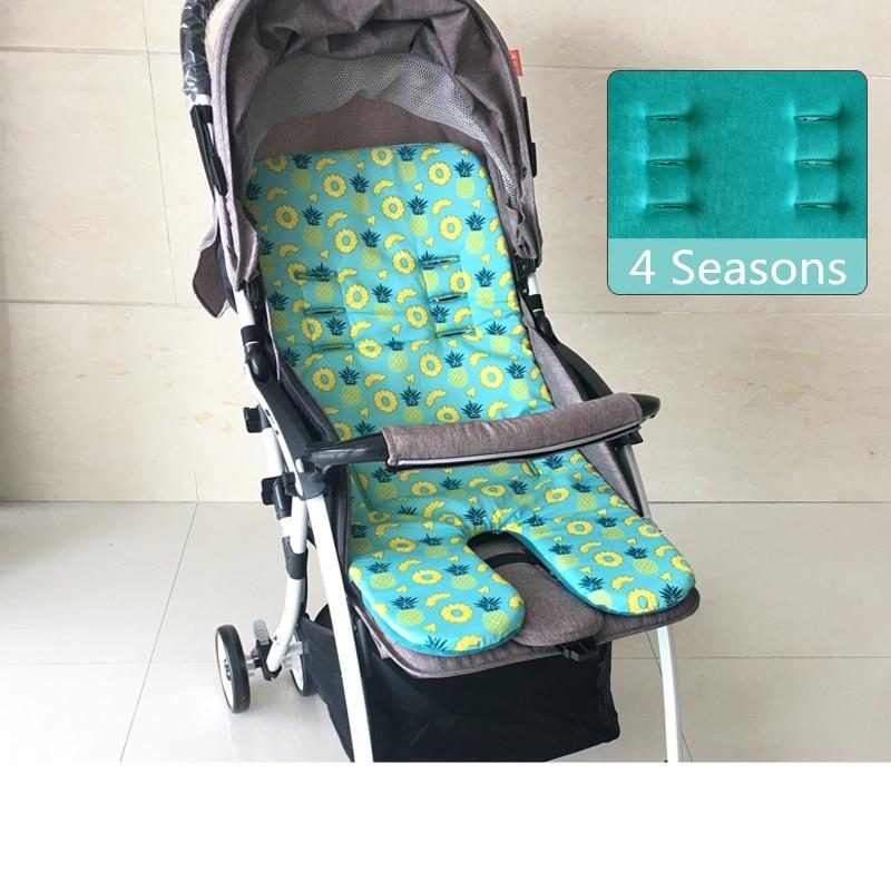 Mother & Kids Cute Pink Gray Dot Baby Stroller Cushion For Winter Autumn Soft Kids Pram Mat Pad High Length Baby Stroller Accessories Seat Mat