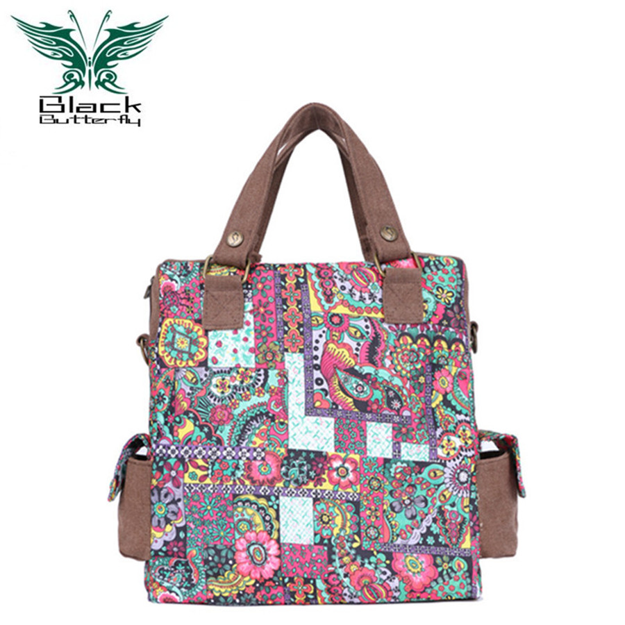 ФОТО 2016 women messenger bags national printing floral handbags vintage travel shoulder bags crossbody bags Canvas Tuval casual tote