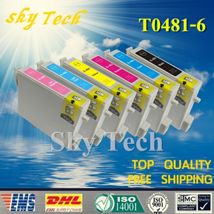 6X Compatible Cartridges For T0481 to T0486 , For Epson R200 R220 R300 R300M R320 R340 RX500 RX600 RX620 RX640 etc image