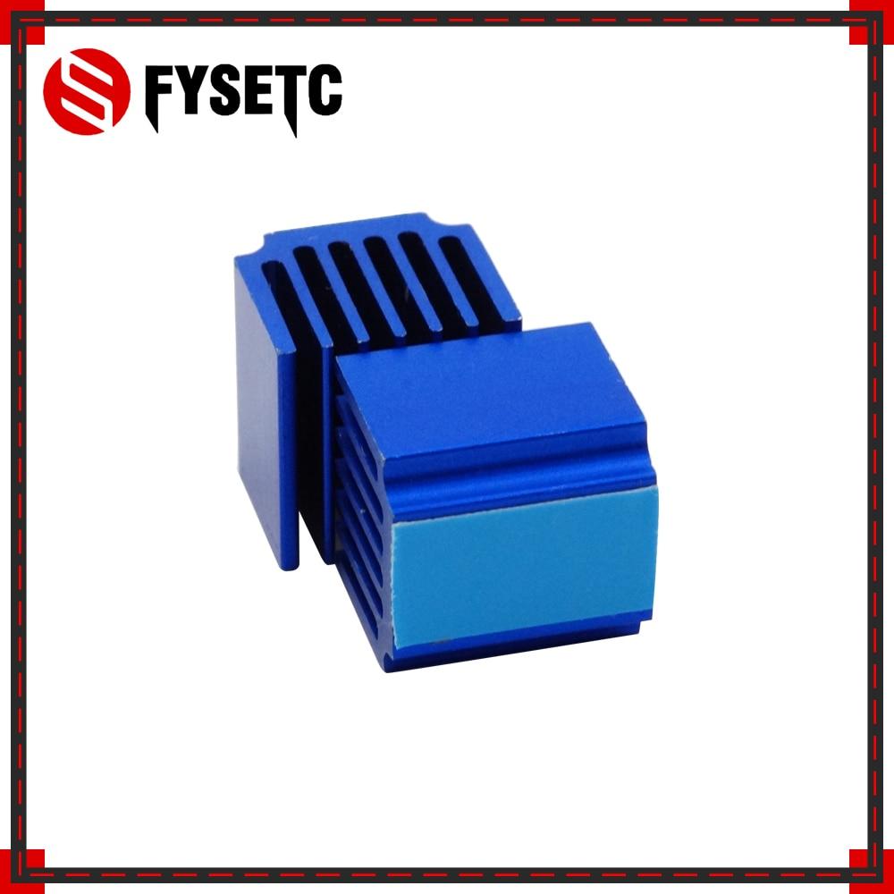 2pcs Blue Raspberry Pi Heatsinks Cooler Aluminum 15*14*13mm With Adhesive For Cooling Raspberry Pi 3 / 2 Model B LV8729/TMC2100