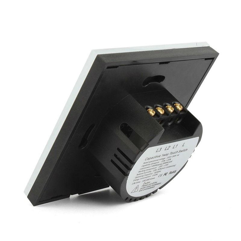Interruptores e Relés toque branco, o indicador de Size : 86*86*36mm