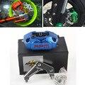 RPM Brand CNC Motorcycle Brake Calipers + 200mm / 220mm Disc Brake Pump Adapter Bracket Sets Universal For Yamaha Aerox Nitro
