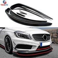 W176 Front Bumper Carbon air Canards Splitter For Mercedes W176 A Class A160 A180 A200 A250 A45 AMG Sport Edition 2013 - 2015
