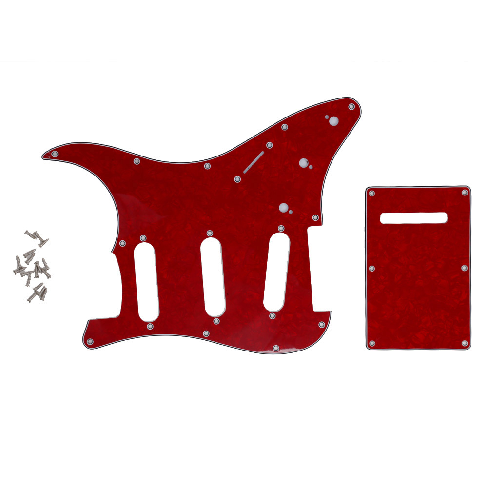 Guitar Accessories Red Wine ortoise Back Plate Guitar Pickguard Fits For Stratocaste Guitar Practical Part Guard Hot Selling musiclily 3ply pvc outline pickguard for fenderstrat st guitar custom