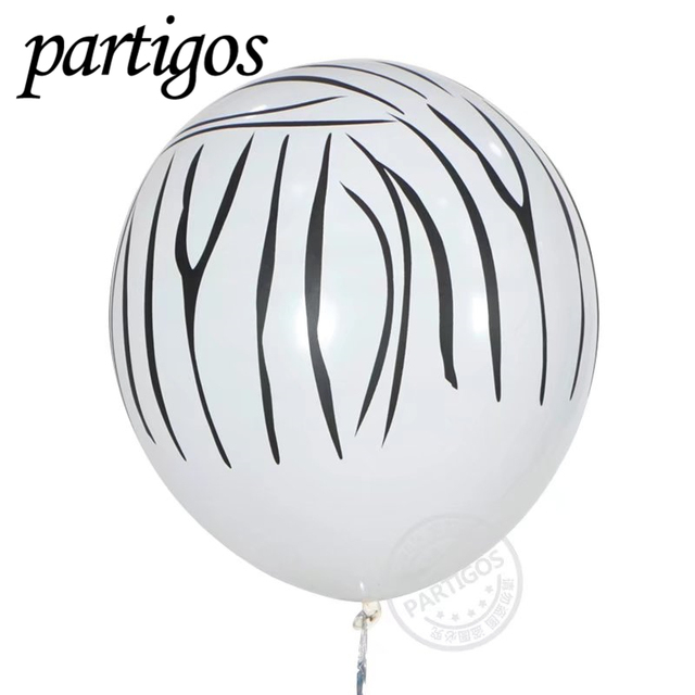 Stripe latex ballons