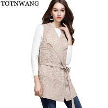 TOTNWANG Casual tricot long femelle kimono cardigan tricoté jumper 2017  chaud d hiver ouvrir point poncho chandail femmes cardig. 6079b080a48