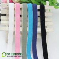 PC Free shipping 3/8'' 9mm single faced nylon elastic velvet ribbon DIY accessory 30 yards