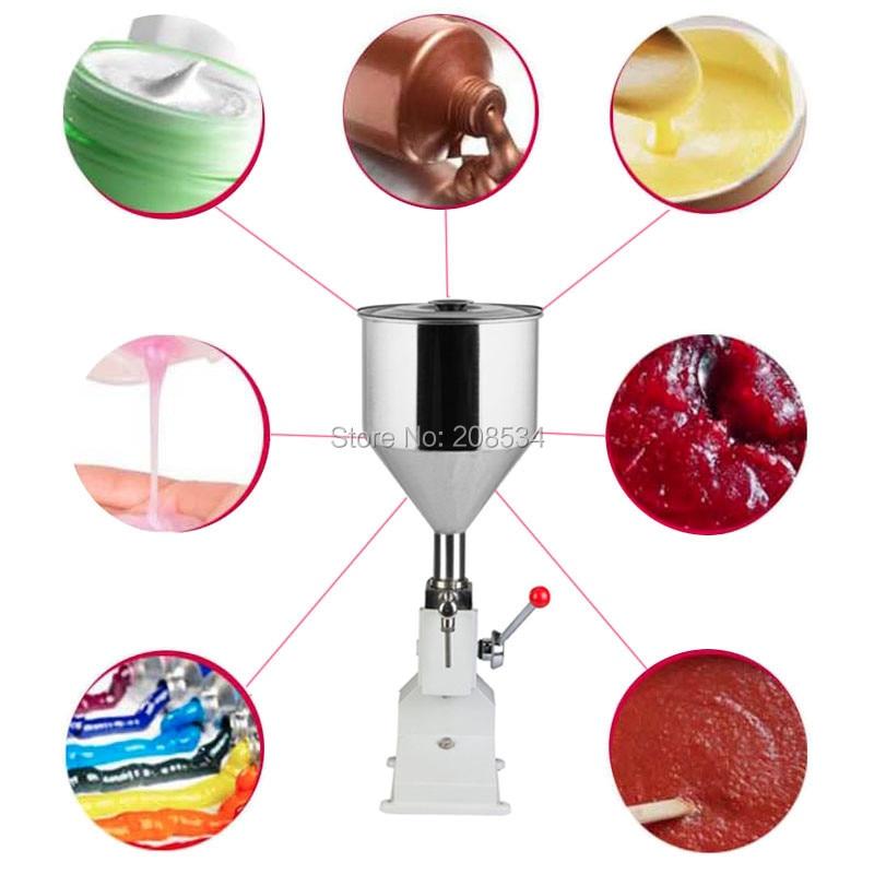 Купить с кэшбэком Free ship Food filling machine Manual hand pressure stainless paste dispensing liquid packaging equipment sold cream machine